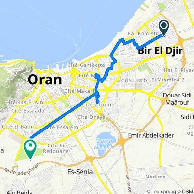 Route from Boulevard Millenium 1, Bir El Djir