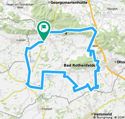 Bad Iburg-Hilter-Bad Rothenfelde-Bad Laer-Glandorf-Bad Iburg