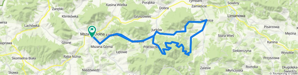 Z Mszany Dolnej na ZboczaMogielicy + Przełęcz Rydza-Śmigłego