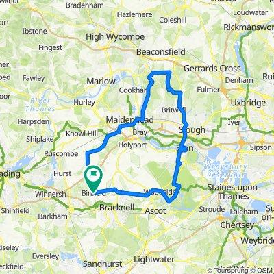 Maidenhead, Farnham Common, Windsor, 40 miles