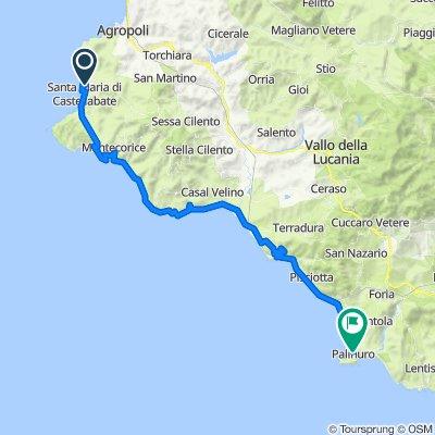 Da Viale della Santa Croce, Santa Maria di Castellabate a Via degli Aranci, Palinuro