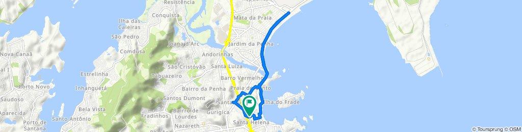 Avenida Desembargador Santos Neves, 410, Vitoria to Avenida Desembargador Santos Neves, 401, Vitoria