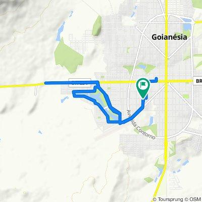 De Rua Doze, 532–592, Goianésia a Rua Doze, 531–591, Goianésia