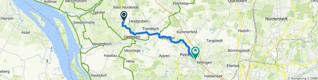 Dorfstraße 102, Groß Nordende nach Fahltskamp 70, Pinneberg