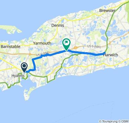 34 Drews Way, West Yarmouth to US-6 E, South Yarmouth