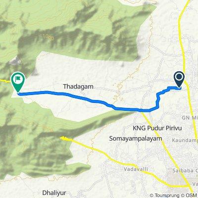 Route to SH 164, Coimbatore