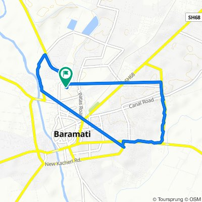 Christian Colony Road, Baramati to Christian Colony Road, Baramati