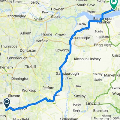 M1, Heath, Chesterfield do 170 Ferensway, Hull