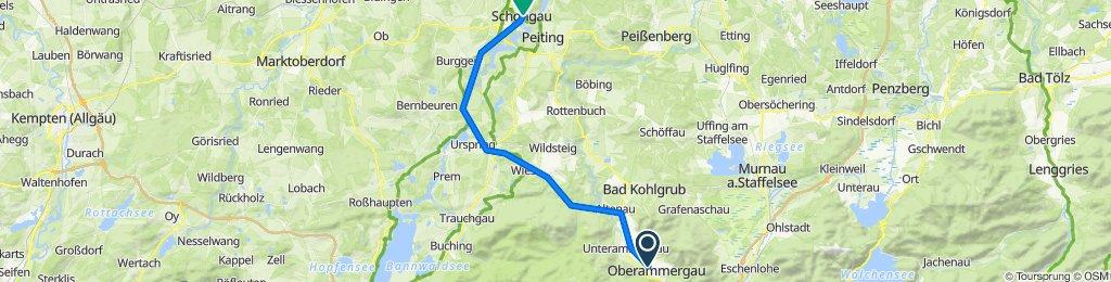 Von Oberammergau nach Schongau