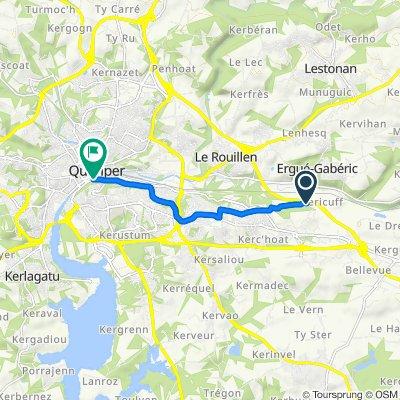 De 6 Chemin de Keraudren, Quimper à 4 Rue Sainte-Thérèse, Quimper