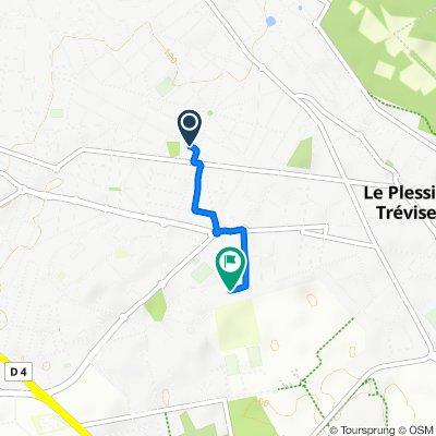 De 107 Avenue du Parc, Champigny-sur-Marne à 5 Avenue Joseph Cugnot, Le Plessis-Trévise