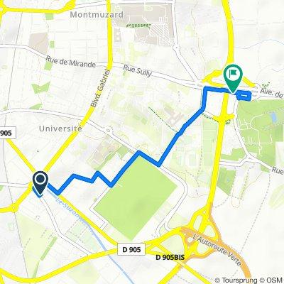 De Rue Ernest Petit 11B, Dijon à Rue Sully 64a, Dijon