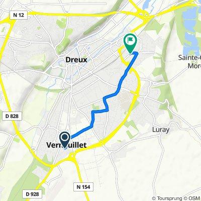 De 18 Rue Claude Debussy, Vernouillet à 22 Rue Henri Dunant, Dreux