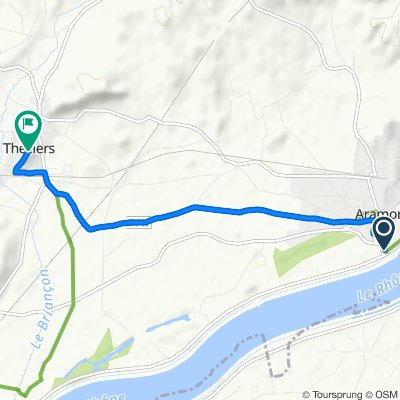 Route to Rue de l'Église, Théziers