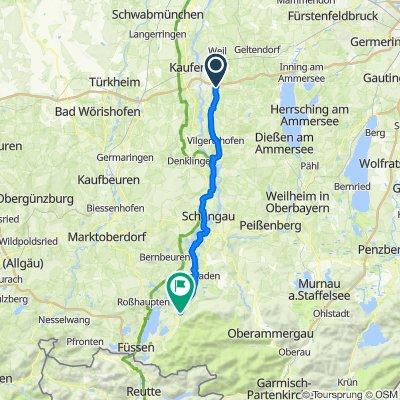 Route nach Lechbrucker Straße 5, Halblech