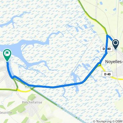 De 1 Route du Crotoy, Noyelles-sur-Mer à 1–9 Quai Perrée, Boismont
