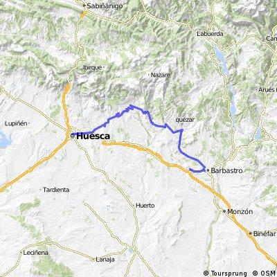 Huesca-Mº El Pueyo por Bastarás