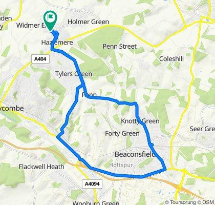 24 Copes Shroves, High Wycombe to 25 Copes Shroves, High Wycombe