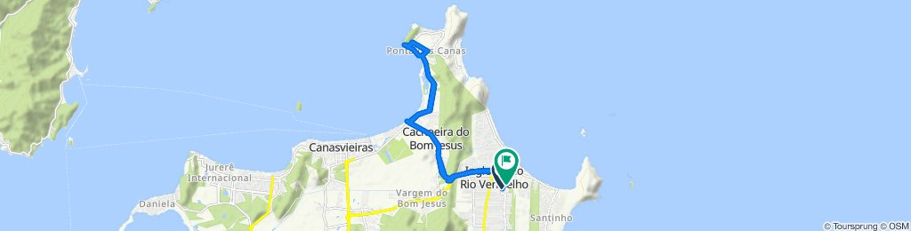 De Estrada Dário Manoel Cardoso, 501, Florianópolis a Servidão dos Lírios, 34, Florianópolis