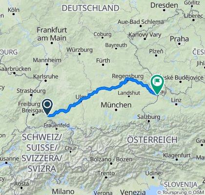 2007-07-12 Donauradweg Teil 1 Donaueschingen - Passau