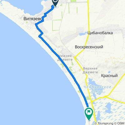 От 4-й Черноморский переулок, 4–10, Витязево до проезд Золотой Берег, Анапа