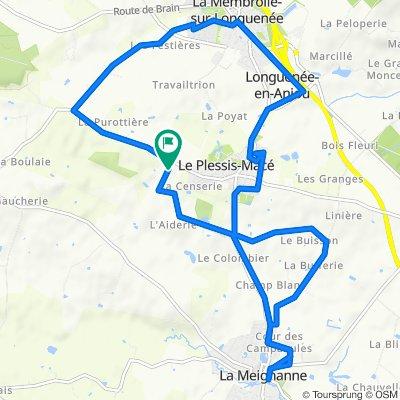 De Rue de Bretagne, Le Plessis-Macé à Rue de Bretagne, La Meignanne