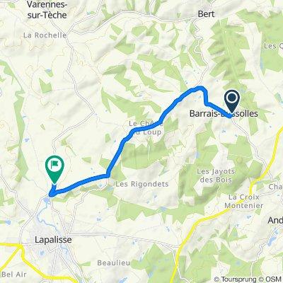 Itinéraire vers Papon, Lapalisse