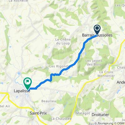De D424, Barrais-Bussolles à 19–27 Rue de la Fraternité, Lapalisse
