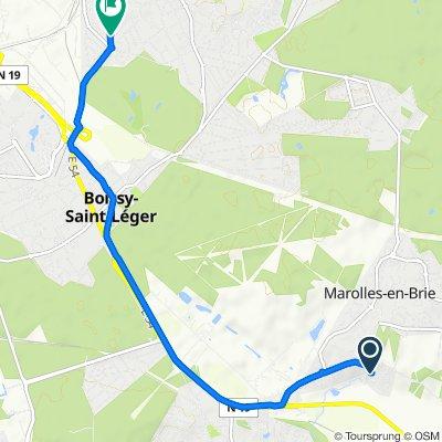 De 8 Route de Brie, Marolles-en-Brie à 21–35 Avenue de la Somme, Sucy-en-Brie