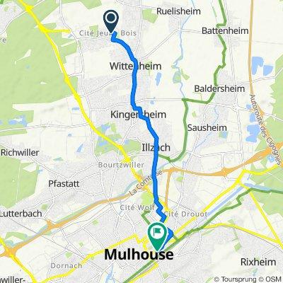 De 3 Rue de Sologne, Wittenheim à 2A Rue de Huningue, Mulhouse