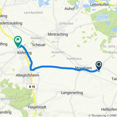 Fürstenstraße 13, Mintraching nach Albert-Kaindl-Ring 34, Köfering