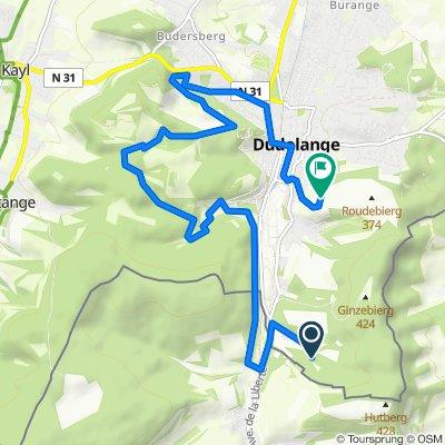 Route nach Rue des Fleurs 99, Düdelingen