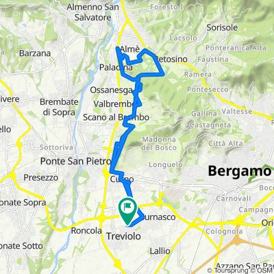 Da Via degli Alpini 64, Treviolo a Via degli Alpini 66, Treviolo