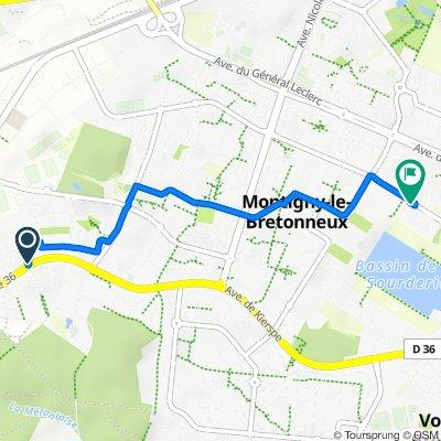 De Avenue de Kierpse, Montigny-le-Bretonneux à 58 Avenue Joseph Kessel, Montigny-le-Bretonneux