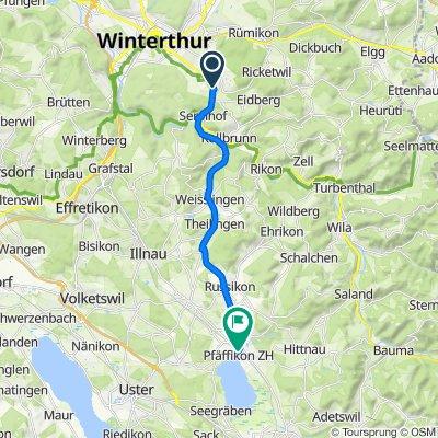 Weizackerstrasse 14, Winterthur nach Frohwiesstrasse 1, Pfäffikon