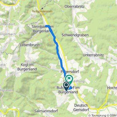 Anger 2, Bubendorf im Burgenland nach Birkengasse 13, Bubendorf im Burgenland
