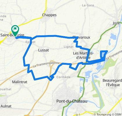 De Impasse des Marronniers 5, Saint-Beauzire à Impasse des Marronniers 5, Saint-Beauzire