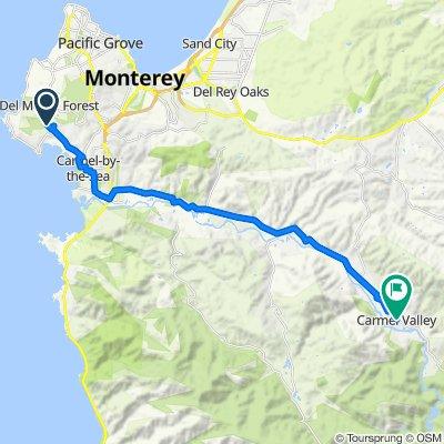Carmel to Carmel Valley