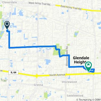 326–340 Klein Creek Ct, Carol Stream to 500 North Ave, Glendale Heights