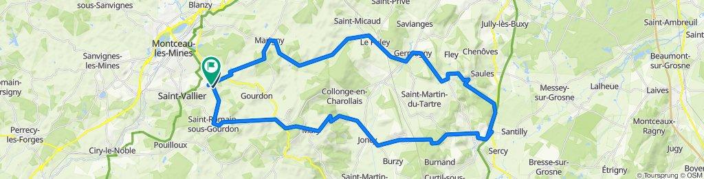 Route de Saint-Romain 10, Saint-Vallier nach Rue du Chèvrefeuille 10, Saint-Vallier