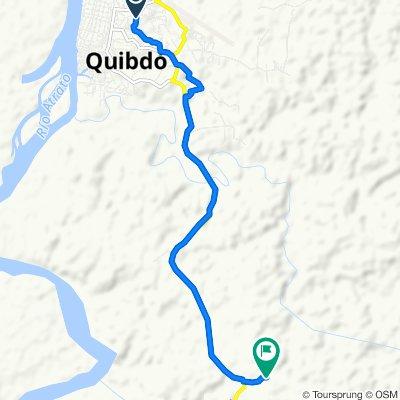 Ruta desde Carrera 12-A 2833, Quibdó