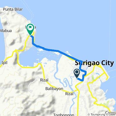 Jose Calderon Street, Surigao City to Eastern Nautical Highway, Surigao City