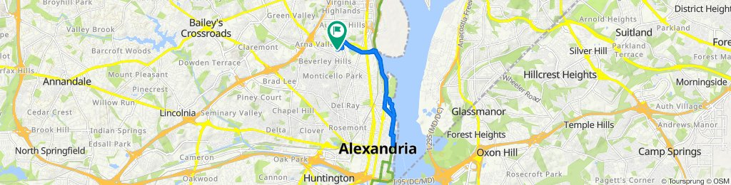 3925 Old Dominion Blvd, Alexandria to 3917 Old Dominion Blvd, Alexandria