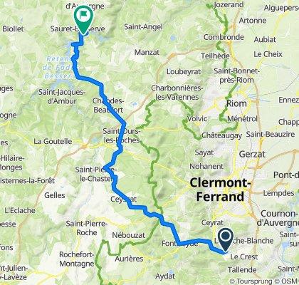 De Route d'Opme 8, Chanonat à Garachons, Sauret-Besserve