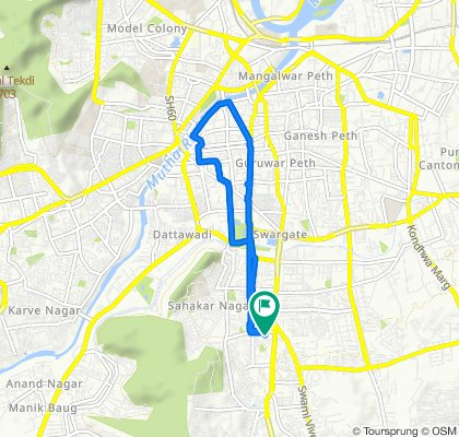 Araneshwar Marg, Pune to Araneshwar Marg, Pune