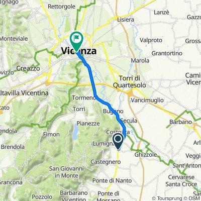 Da Via Ponte di Lumignano 1–9, Longare a Stradella San Giacomo 1–3, Vicenza