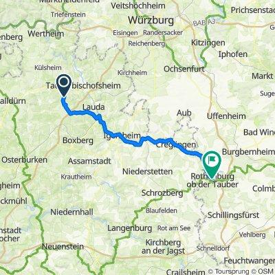 Adelsgraben 27, Königheim nach Bezoldweg 17–23, Rothenburg ob der Tauber
