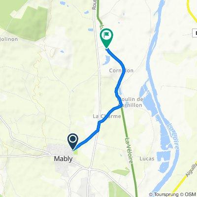 Itinéraire à partir de 31 Rue des Rosiers, Mably