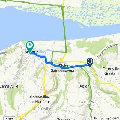 Route de la Morelle 73, Fiquefleur-Équainville nach Rue de la ville 21, Honfleur
