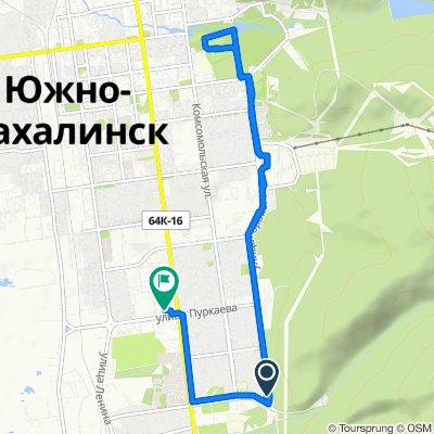 От улица Горького, Южно-Сахалинск до улица Пуркаева, 94, Южно-Сахалинск